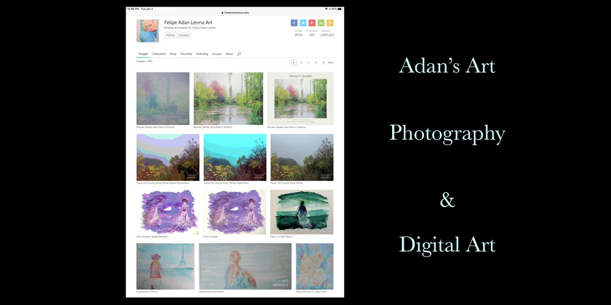 Adan's Paintings, Photography & Digital Art  Blog   My art and photography on Fine Art America -   Images & hashtags updated 010621  #MonetsGarden #DigitalArt #TexasHillCountry