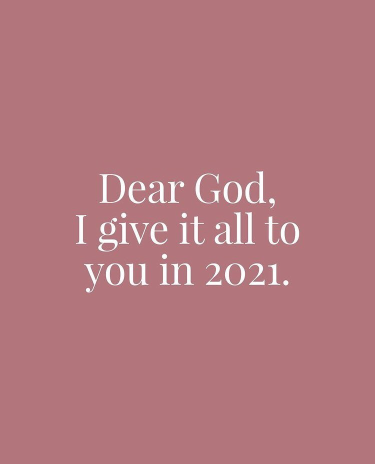 It's all said in these words, #NewYears2021 #RockinEve #giveittogod ♡🙏 lord have mercy on us all, be with us all.