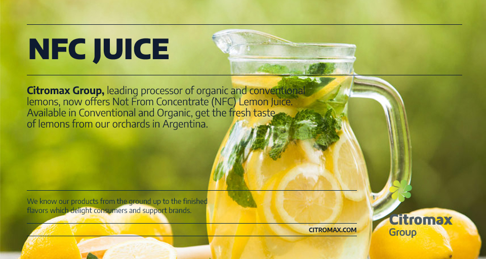 NFC JUICE LemonLemonLemonTropical drink @citromaxgroup ,leading processor of #organic and conventional #lemons, now offers Not From Concentrate (NFC) Lemon #Juice. Available in Conventional and Organic, get the fresh taste of lemons from our #orchards in #Argentina.  #beverages
