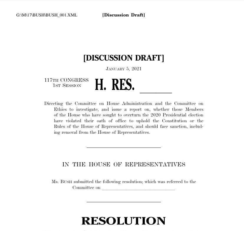 I believe the Republican members of Congress who have incited this domestic terror attack through their attempts to overturn the election must face consequences. They have broken their sacred Oath of Office.   I will be introducing a resolution calling for their expulsion.