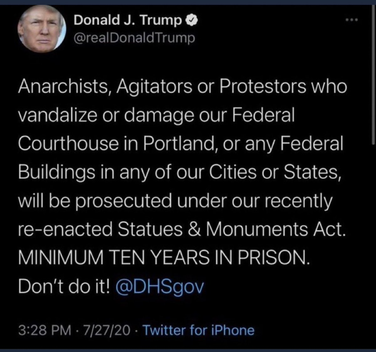 @realDonaldTrump Don't forget to PROSECUTE!!!!  You have photos and videos of the people at the Capital Building!!