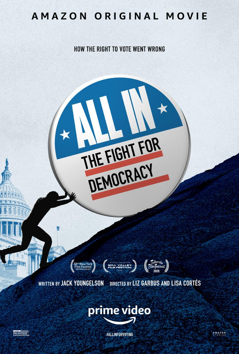 Deadline Virtual Screening:  ALL IN: THE FIGHT FOR DEMOCRACY  TUESDAY  January 19, 2021 @ 5 PM PT  Panelists:  Lisa Cortés, Director & Producer Liz Garbus, Director & Producer  RSVP: