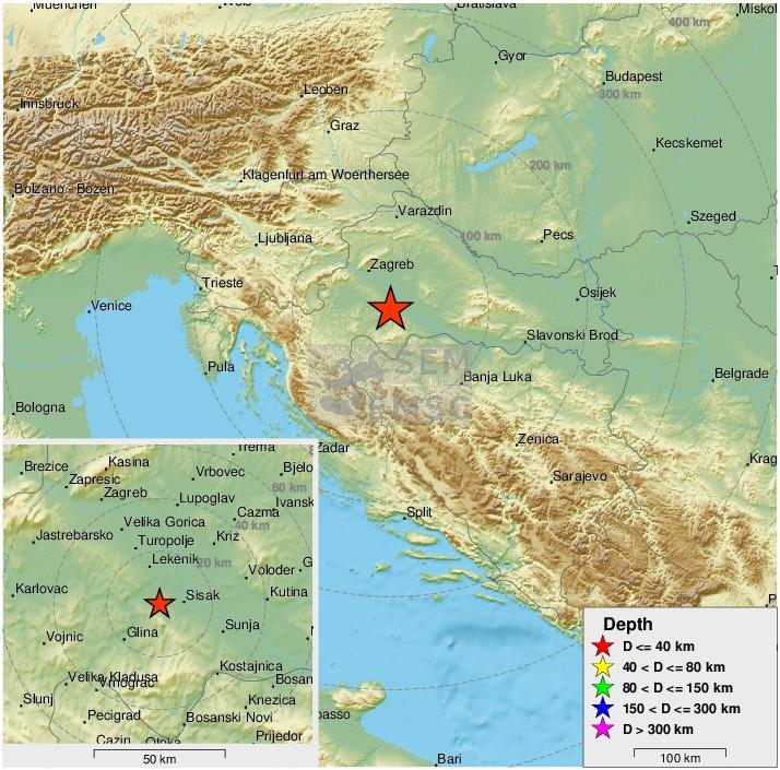Emsc On Twitter Felt Earthquake Potres M5 5 Strikes 45 Km Se Of Zagreb Centar Croatia 4 Min Ago Please Report To Https T Co Irigphu6bj Https T Co M73wul586m