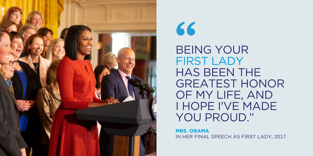 """I want our young people to know that they matter, that they belong.""  Four years ago today, @MichelleObama gave her final speech as First Lady, imploring young people to believe in themselves and take part in building a better community.   Watch the 📼:"