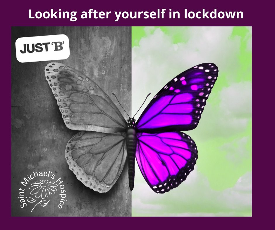 It's dark and cold and then, along comes another lockdown.  Our Just 'B' bereavement and emotional wellbeing team share simple ideas to give ourselves a mental boost during the days and weeks to come.