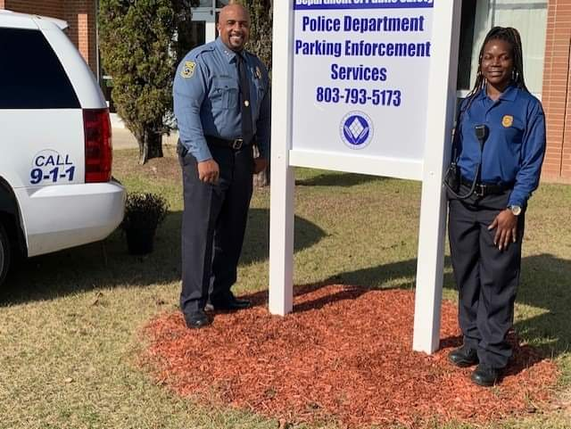 Chief Bond and Officer Abdul-Wadud are always on the scene to make sure our campus is a safe place to learn. The new wrap on our police SUV is icing on the cake.