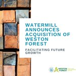 Image for the Tweet beginning: Watermill is excited to announce