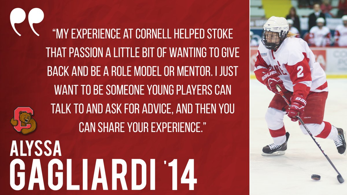 WIH: @CornellWHockey alum Alyssa Gagliardi '14 shares how her Cornell experience lead into her current role. Click the link below to read this week's alumni spotlight story! #YellCornell   READ MORE: https://t.co/MeWM8cphy6 https://t.co/QTNeUUUwZp
