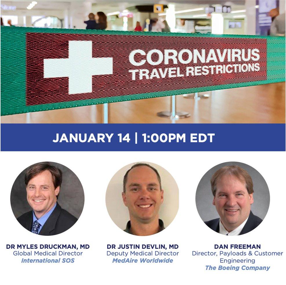 Join us on Jan 14 for a Live Panel Discussion.  The focus will include updates on the latest vaccine status, testing protocols, what the airline industry is doing to safeguard travellers from COVID-19.  Register Here:https://t.co/Vv1p1YjOQW https://t.co/oQ7VmhbaA8