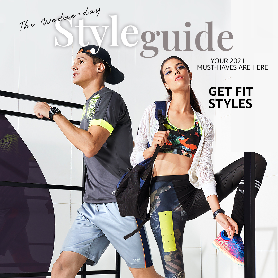 Start the new year with some fitness styles topped off with some fashion for your wrists! These & more 2021 style inspo all in the #WednesdayStyleGuide!   Shop Now:   #Magazine #AmazonFashion #HarPalFashionable