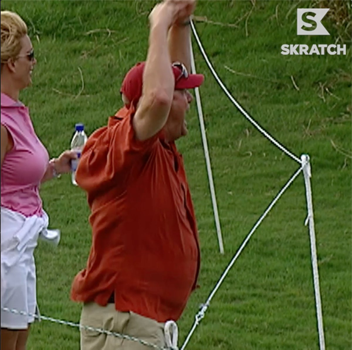 We've never heard anyone this excited about a golf shot.