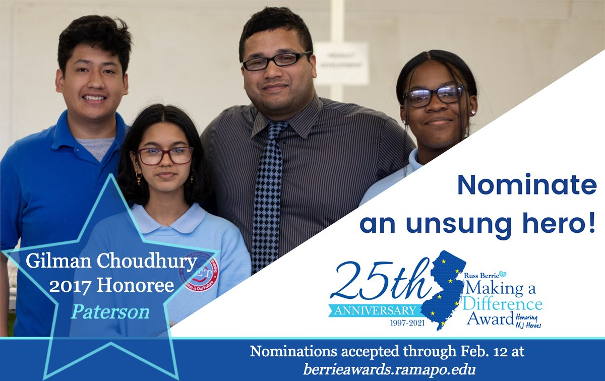 Who do you know who is #MakingADifference in #NewJersey?  Nominations are now open for the @BerrieAwardNJ as it marks 25 years of honoring unsung heroes! https://t.co/XUfk7DrI9X