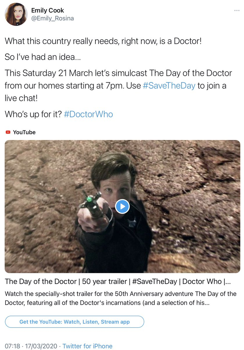 Coincidentally, the first ever #DoctorWhoLockdown watchalong also took place on Chris Chibnall's 50th birthday. And look at where we are right now, feels like yesterday! #SaveTheDay #IJustWantAMate