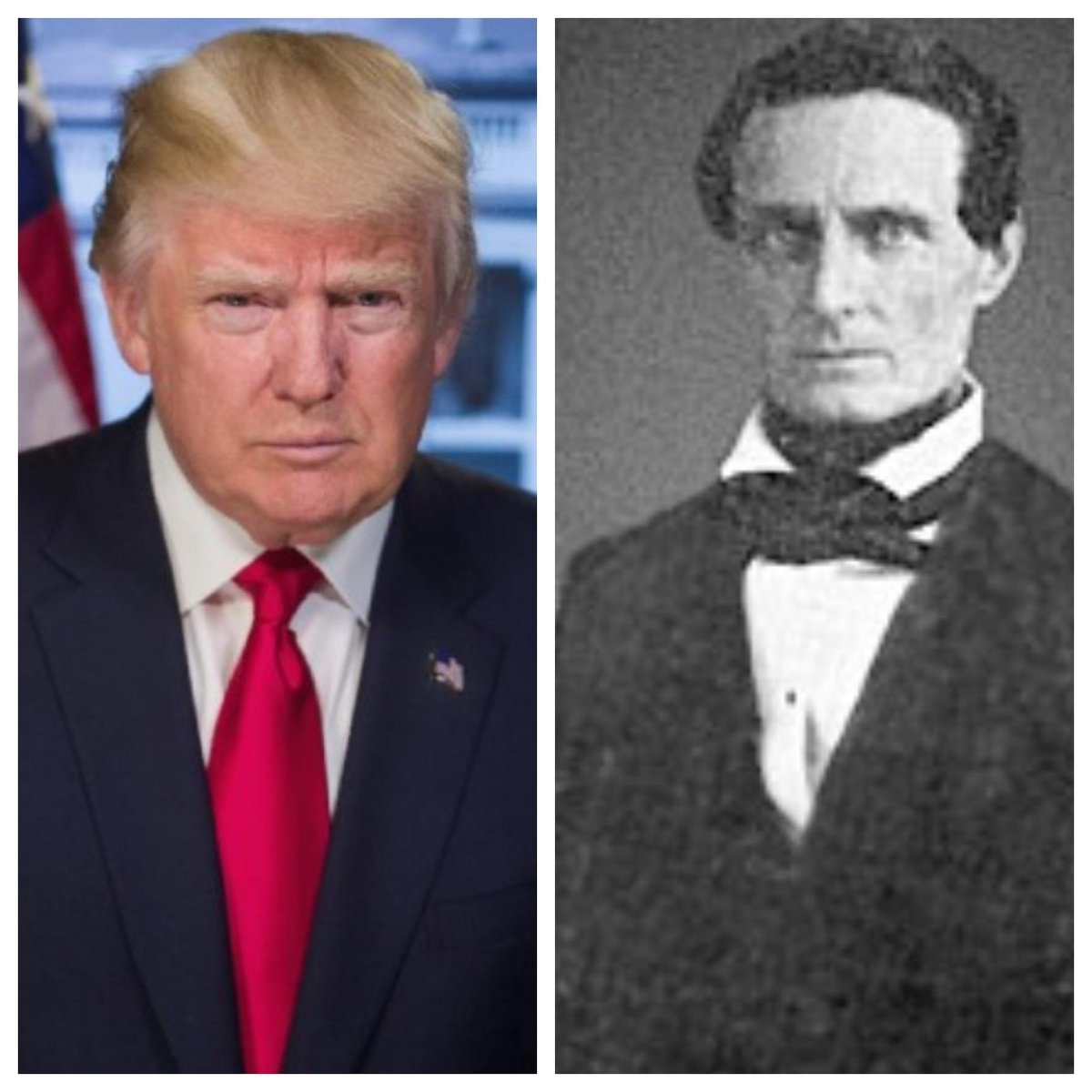 Trump is This Generations Version of The Confederate Party Leader . Jefferson Davis would be Proud. @ShannonSharpe  @jemelehill  @TheRevAl @maddow https://t.co/M8qtmqZ6sR