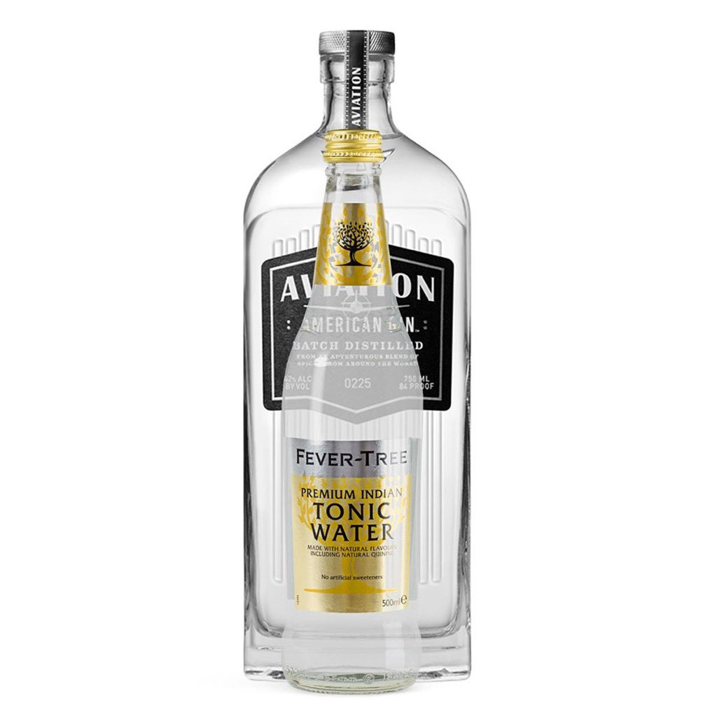 We're proud to sponsor #DryJanuary. That's why you can buy a large bottle of premium @FeverTreeMixers  tonic water at @ReserveBar for just $38. Feel free to ignore the fact a bottle of Aviation Gin will show up with it.