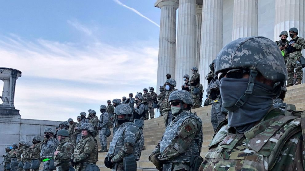 "Reminder fo what capitol ""security"" in full military-grade riot gear looked like for Black Lives Matter protests this summer."