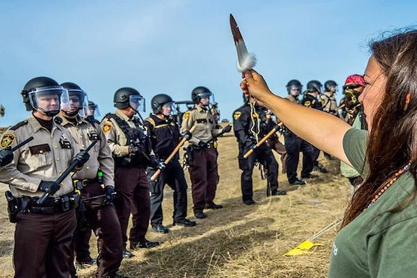 As we watch Trumpers storm the capital with guns. Just a reminder, this is what America did to Native protesting for clean water.