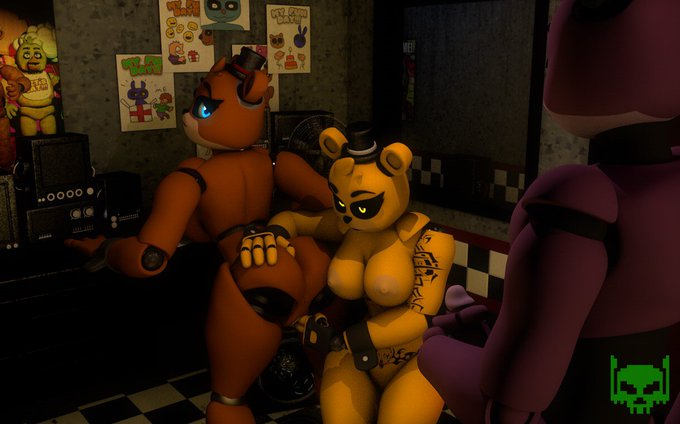 the couple Freddy and golden Freddy is a nice combo  model by me  #nsfw #fnaf #nsfwfnaf #freddy #golden_freddy