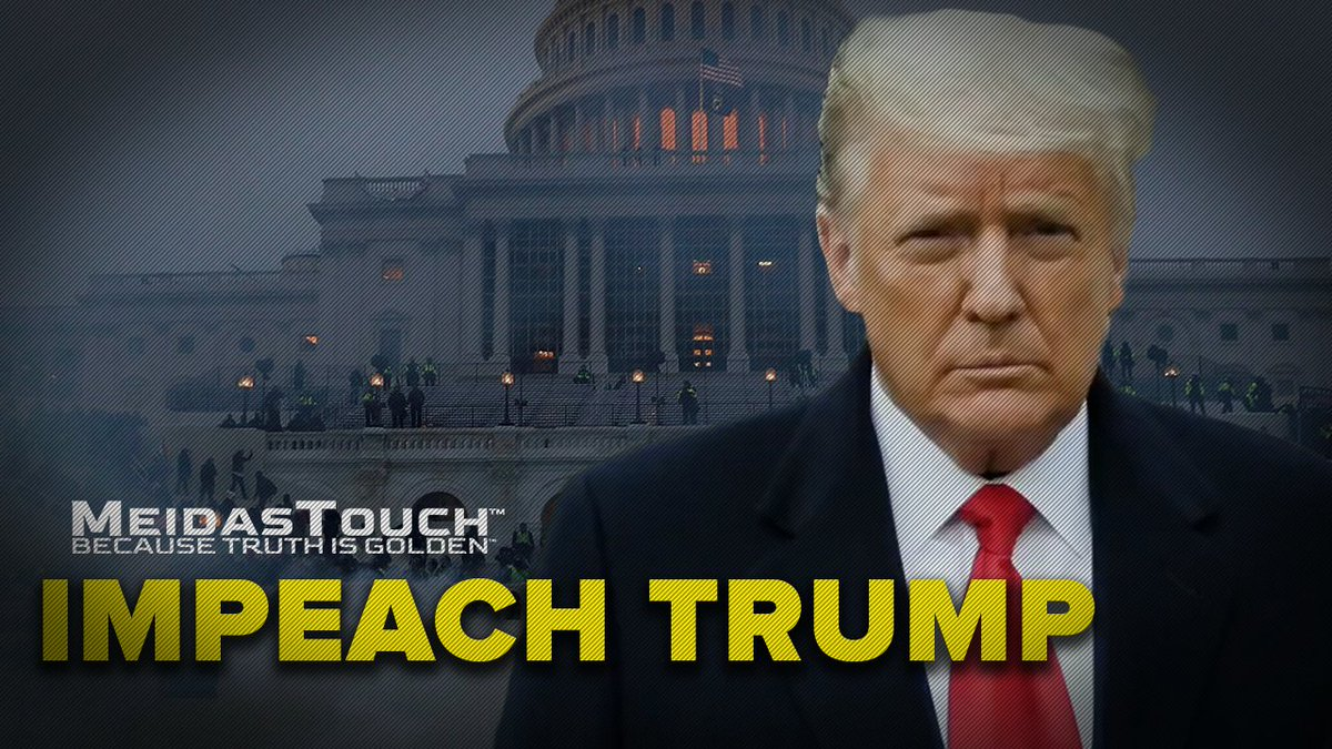 Many people are saying #ImpeachTrump because @RudyGiuliani @DonaldJTrumpJr and I launched a YUGE terrorist attack on the US Capitol and got a woman killed today. I may have blood in my hands but have you seen the ratings I'm getting? Bachelor Finale level!