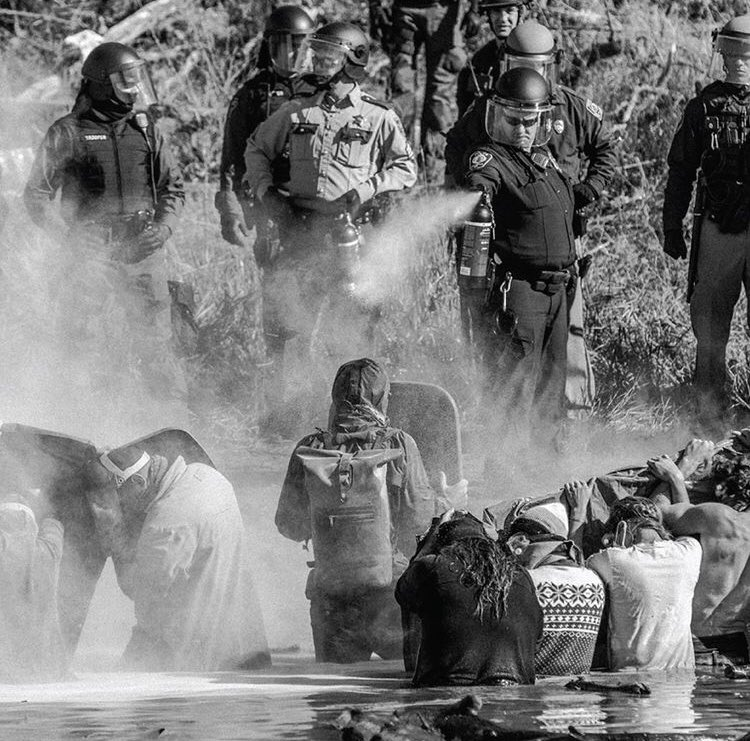 This is what white supremacy looks like. The events unfolding at the U.S. Capitol today might be surprising to some, but it is not new to Indigenous communities & other communities of color. Indigenous water protectors during Standing Rock were met with violence. 📸: @Josue_Foto