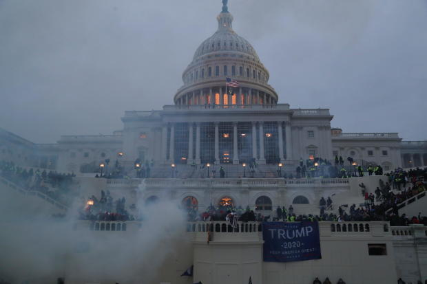 The US Capitol during the riot.