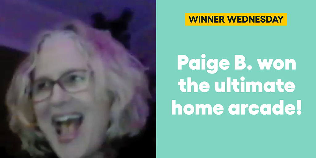 Paige B. won the ultimate home arcade… And helped the Comic-Con Museum reach students of all ages! #omaze #omazewinners #winnerwednesday