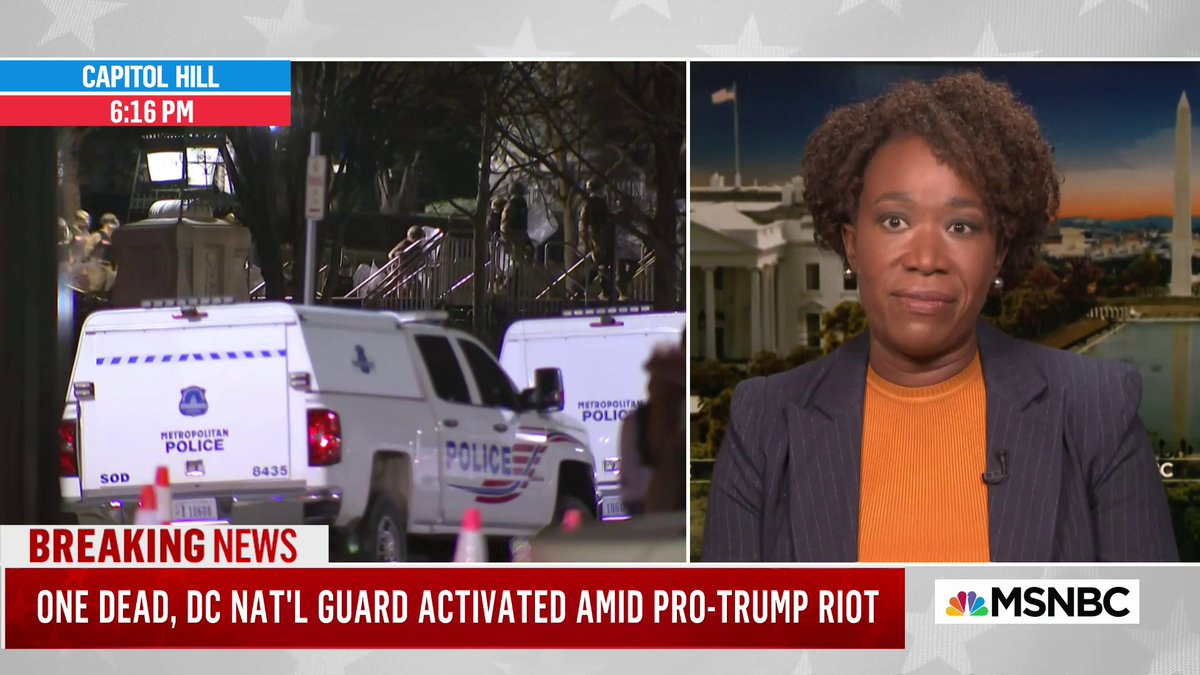 ".@JoyAnnReid: If this was a BLM protest, ""there would already be people shackled, arrested or dead"""