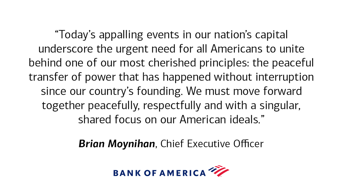Replying to @BofA_News: A statement from our CEO Brian Moynihan