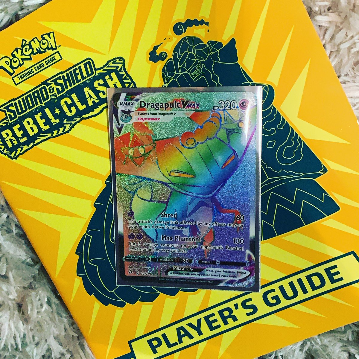 I'm solely into these newer Pokémon cards for the art and man are these not amazing! Today's grand daddy pull #PokemonTCG #dragapult #rainbow
