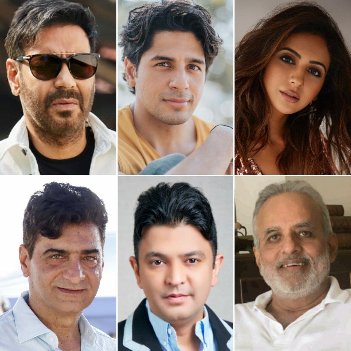 #AjayDevgn, #SidharthMalhotra & #RakulPreetSingh teams up for slice of life comedy officially titled #ThankGod.   Directed by #IndraKumar  Shoot begins 21 Jan 2021  @ajaydevgn @SidMalhotra @Rakulpreet @Indra_kumar_9 #BhushanKumar #KrishanKumar #AshokThakeria @SunirKheterpal