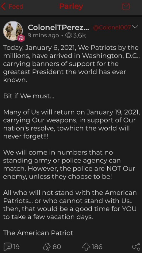 Replying to @drollydragon: reposting this -- THEY PLAN TO ATTACK AGAIN. JANUARY 19. please retweet.