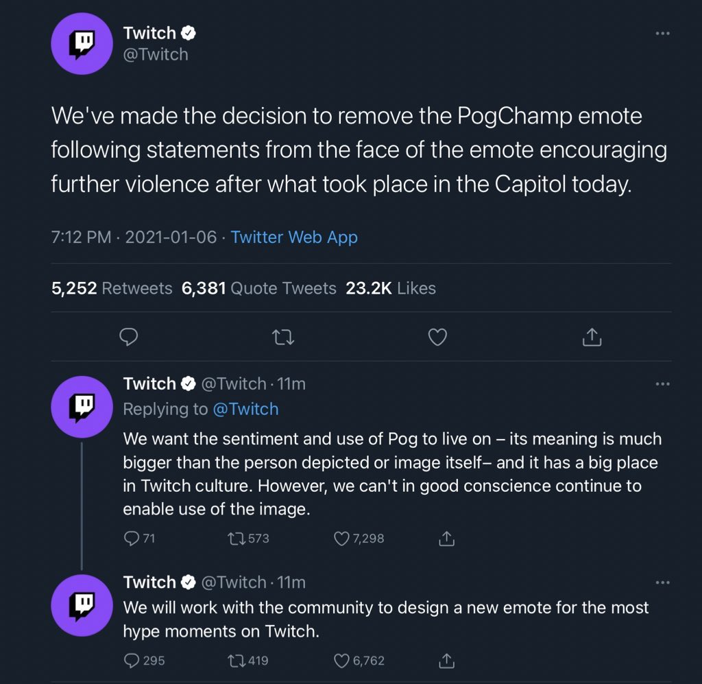 cw violence death mention // wtf why would twitch remove Pogchamp, its just a picture of some guy how is it promoting violenc— oooohh....