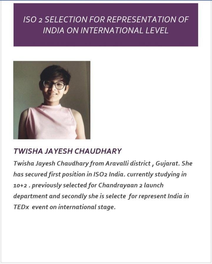 Congratulations @11Twisha #chandrayaan2 @isro