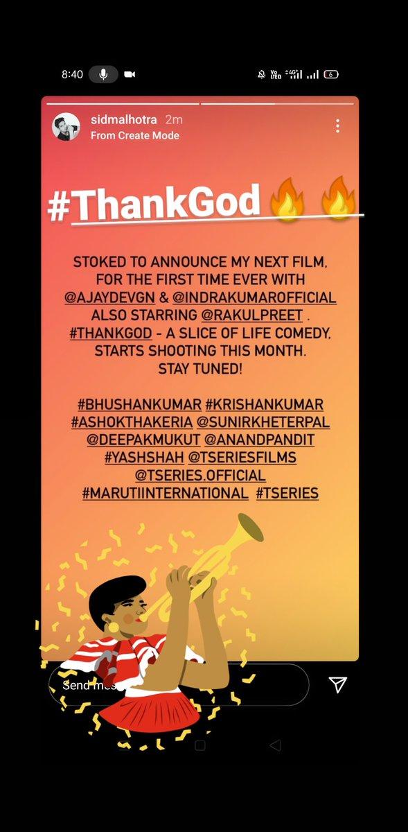 #ThankGod #SidharthMalhotra #AjayDevgon #RakulPreetSingh @SidMalhotra #TSeriesFilms  2021 hum #Sidians ke liye hai🔥🔥🔥