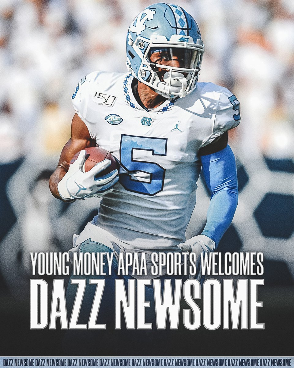 Welcome to the FAMILY! @dazznewsome05   We are excited to rep Dazz, along side Dream Sports, in this year's NFL Draft. Let's get to work! 💪🏽  #YMAPAA