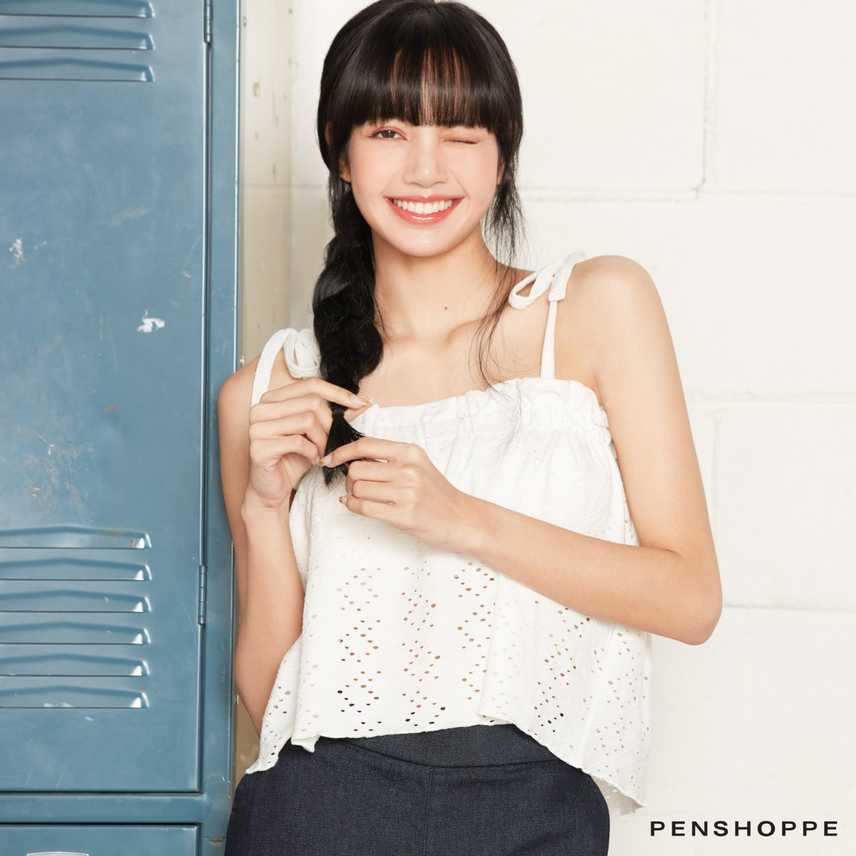 Leave it to our style queen #LISA to show us how to pull off a cute date look 😜  Eyelet Top P699  Shop this Lisa style here:   Also available in Shopee, Lazada, and Zalora.  #LisaForPenshoppe #PenshoppeBetterDays