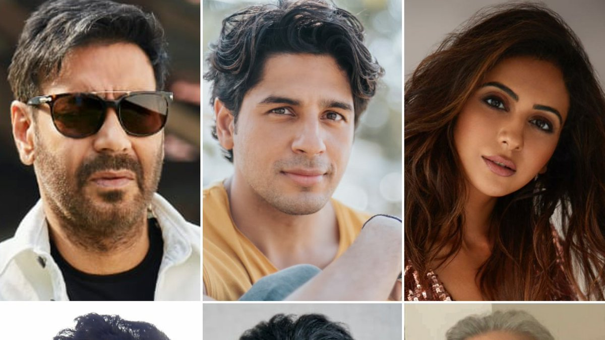Bollywood Mass Superstar #AjayDevgn next film, #ThankGod - a slice of life comedy with @SidMalhotra,  @Rakulpreet Directed by @Indra_kumar_9 the film go on floors from #21January2021  @ajaydevgn #BhushanKumar #KrishanKumar #AshokThakeria @SunirKheterpal @DeepakMukut