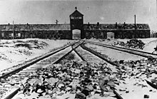 """""""Camp Auschwitz""""  Here is a lesson about its history.   """"It started with words, and it ended in terrible places. We know where it ended."""" Auschwitz survivor Max Eisen."""