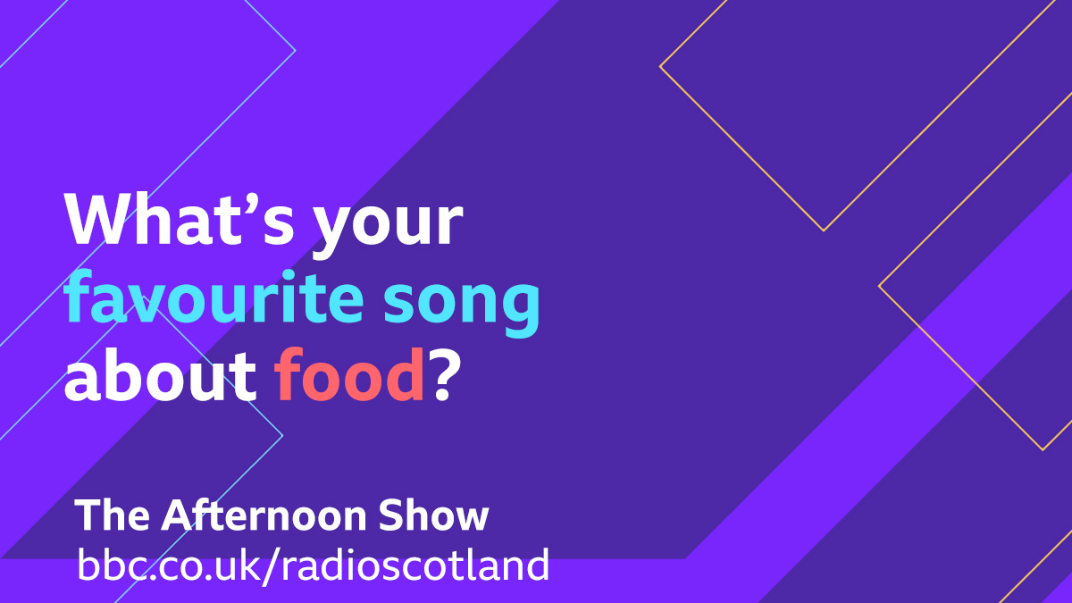 Topical Tune Alert!  Tam Cowan's on hand to talk about Scoff the Ball, his new podcast about food that's not just for foodies. So we're after your tunes about food!  Get your suggestions in and join us for #TheAfternoonShow from 1.30pm  🔈