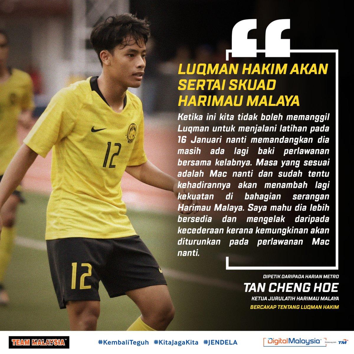 Sudah tiba masanya & langkah tepat untuk memberi peluang kepada @luqmansham10 bersama #HarimauMalaya?  Kalau semua berjalan lancar pemain @kvkofficieel ini bakal memperkuatkan pasukan untuk #WCQ #AsianQualifiers Mac depan. Get ready, Luqie! 🔥 #KitaJagaKita #KamiTeamMalaysia