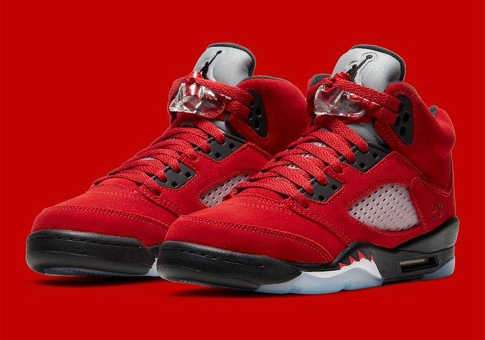 """Air Jordan 5 """"Raging Bull"""" Release Date: Apr 10th, 2021 (Saturday) Mens: $190 Grade School: $140"""