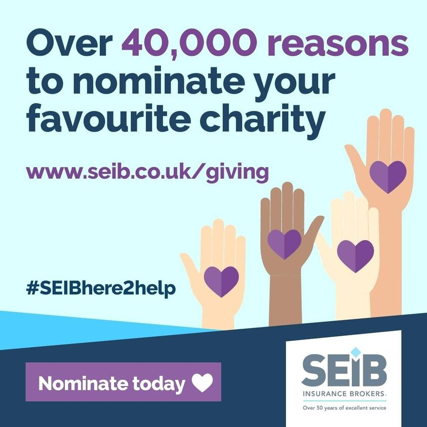 £10,000 could really make a difference to the work we do, especially through these challenging times! Your nomination could be the one that gets us into the final vote in the SEIB Charity Awards.  Charity no. SC012708  Nominate us at .  #SEIBHere2Help