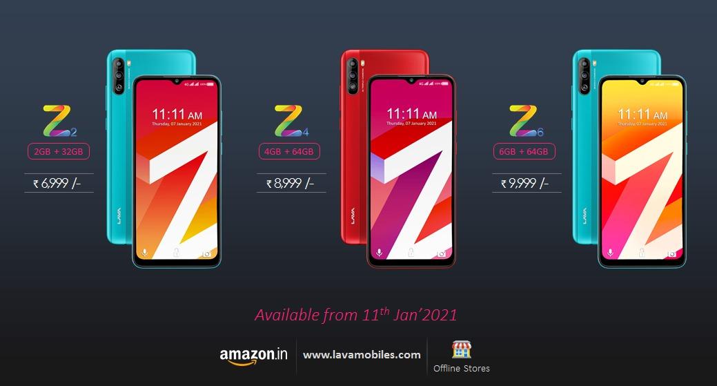 Lava Z2, Z4, Z6