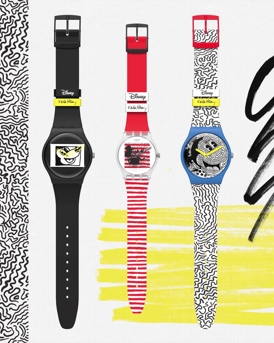 Run, run, run! The Mickey Mouse X Keith Haring collection by Swatch is now available in-stores. Which ones will you get? #KeithHaring #MickeyMouse #SwatchLovesArt    @KeithHaringFdn  @DISNEY