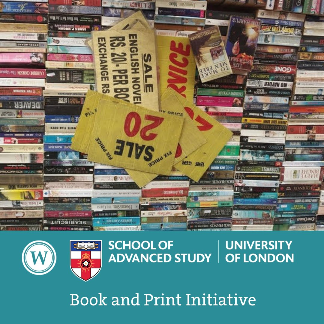 Our first online event of the year is next week, Thu, 14 Jan, 13:00-14:00 GMT, with Kanu Priya Dhingra @SOAS on Books in the bazar: mapping parallel circuits of circulation. Book now 👉 buff.ly/2LP9L5O Booking closes 13 Jan, 17:00 GMT @SASNews @IES_London @Warburg_News