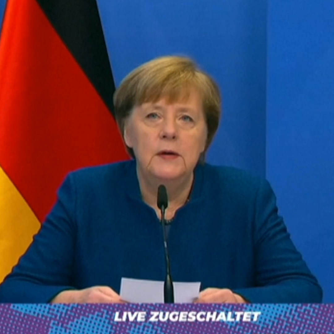 """""""I regret very much that President #Trump since November has not conceded his defeat, and not yesterday either.""""  German Chancellor Angela Merkel reacts to the attack on the #USCapitol. 👇"""