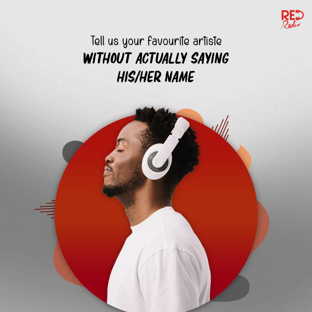 Replying to @itsredradio: Who's your favourite artiste? Don't say their name 🤐 #thursdaymorning