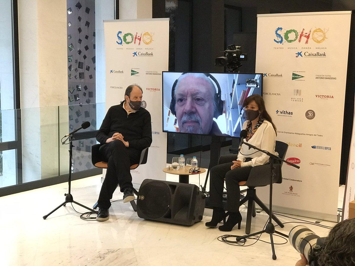 Comenzamos la presentación a prensa de #ViejoamigoCicerón, nuestra próxima obra de teatro con #JosepMariaPou bajo la dirección de #MarioGas. Nos acompaña #AuroraRosales, directora ejecutiva. @caixabank