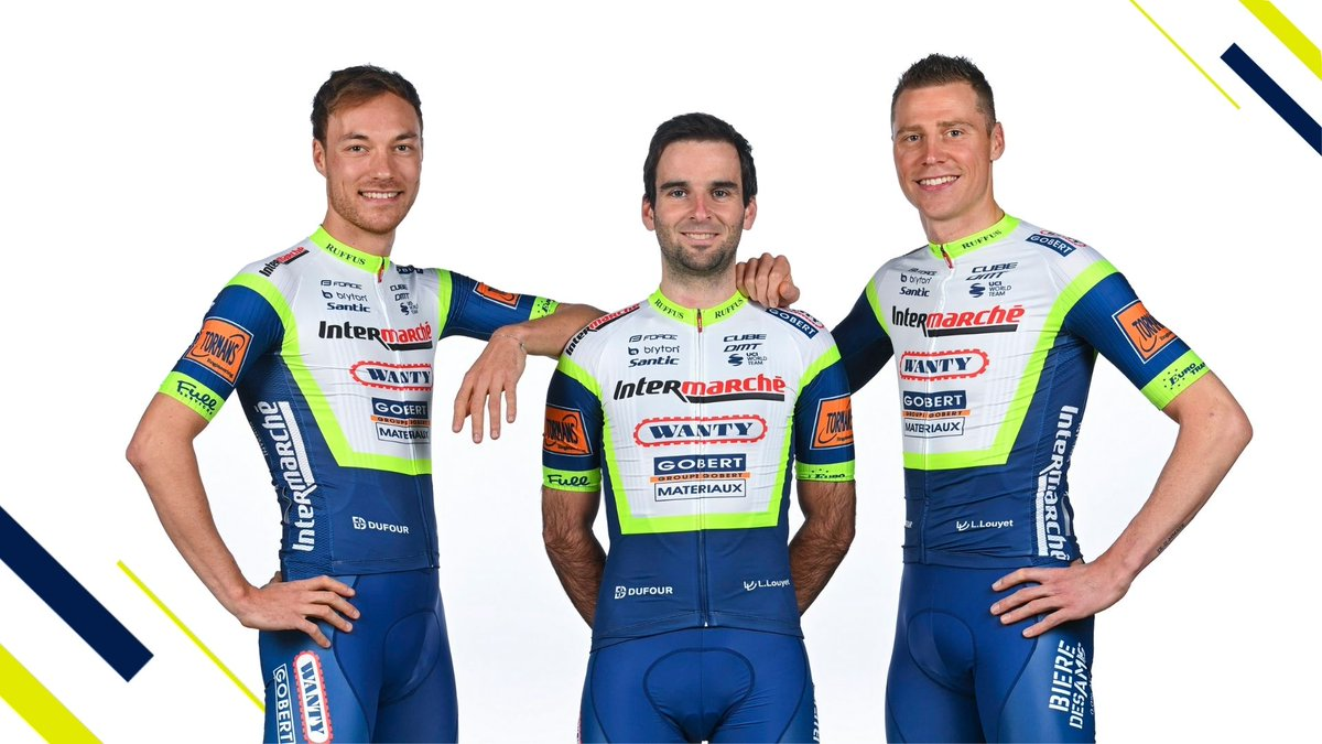 🔵Traditional Colors - A new Design 🟡  @LoicVliegen, Baptiste & @kevinvanmelsen shine in their new @SanticCycling kit ✨  - Designed by @stycle_design -   Reactions ⬇ 📄 https://t.co/LEALB6m6vB #IWG https://t.co/oaK7ecBz0e