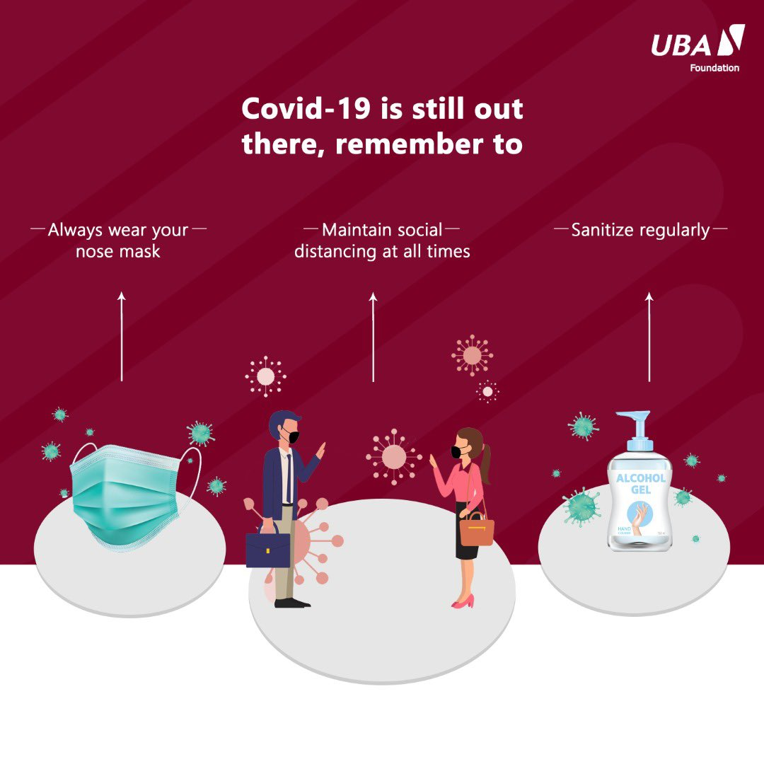 Morning Fam. It maybe a new year but let's remember to be responsible and take the necessary precautions to avoid illness. Have a great day! #UBACares